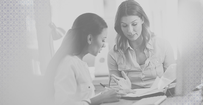 Business Development Manager | Two Women, Black and White Photograph